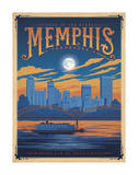 Memphis, Tennessee: Home Of The Blues Poster by  Anderson Design Group