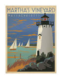 Martha's Vineyard, Massachusetts (Lighthouse) Posters par  Anderson Design Group