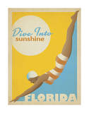 Dive Into Sunshine: Florida Poster von  Anderson Design Group