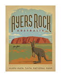 Ayers Rock, Australia Print by  Anderson Design Group