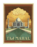 Taj Mahal, India Print by  Anderson Design Group