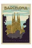 Barcelona, Spain Print by  Anderson Design Group