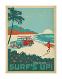 Nothing Else Matters When The Surf's Up! Print by  Anderson Design Group