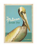 The Pelican Seaside Pub Prints by  Anderson Design Group