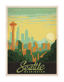Come Visit Beautiful Seattle, Washington Kunstdrucke von  Anderson Design Group