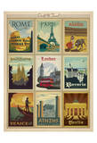 World Travel Multi Print I Print by  Anderson Design Group