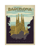 Barcelona, Spain Giclee Print by  Anderson Design Group