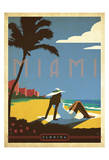Miami, Florida Posters af  Anderson Design Group