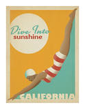Dive Into Sunshine: California Print by  Anderson Design Group