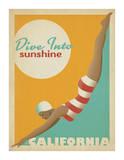 Dive Into Sunshine: California Poster por Anderson Design Group
