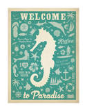 Welcome to Paradise (Sea Horse) Prints by  Anderson Design Group