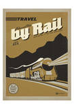 Travel by Rail Plakater af Anderson Design Group