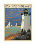 Martha's Vineyard, Massachusetts (Lighthouse) Poster af Anderson Design Group