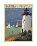 Martha's Vineyard, Massachusetts (Lighthouse) Poster by  Anderson Design Group