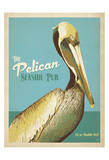 The Pelican Seaside Pub Poster by  Anderson Design Group