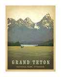 Grand Teton National Park, Wyoming Poster von  Anderson Design Group