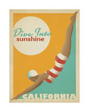 Dive Into Sunshine: California Poster by  Anderson Design Group