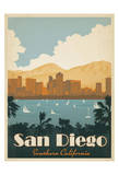 San Diego, Southern California Print by  Anderson Design Group
