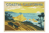 Coastal California: Miles Of Shore To Explore Print by  Anderson Design Group