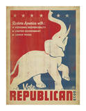 Anderson Design Group - Vote Republican (Elephant) - Poster