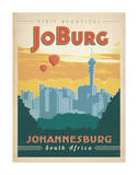 Visit Beautiful Johannesburg, South Africa Poster par  Anderson Design Group