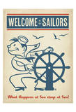 Welcome Sailors Prints by  Anderson Design Group