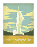 Yellowstone nasjonalpark Poster av  Anderson Design Group