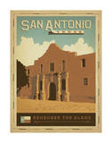 San Antonio, Texas: Remember The Alamo Posters by  Anderson Design Group