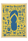 I Love The Beach (Flip Flop) Art by  Anderson Design Group