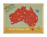 Explore Australia, The Land Down Under Plakat autor Anderson Design Group
