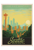 Come Visit Beautiful Seattle, Washington Posters by  Anderson Design Group
