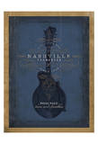 Nashville, Tennessee (Blue Mandolin) Posters by  Anderson Design Group