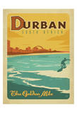 Anderson Design Group - Durban, South Africa: The Golden Mile - Art Print