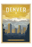 Denver: The Mile High City Posters by  Anderson Design Group