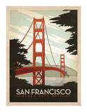 San Francisco, puente Golden Gate Lámina por Anderson Design Group