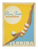 Dive Into Sunshine: Florida Giclée-tryk af Anderson Design Group