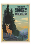 Parque Nacional Great Smoky Mountains Póster por Anderson Design Group