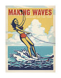 Making Waves Soaking Up The Sun! Print by  Anderson Design Group