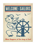 Welcome Sailors Posters by  Anderson Design Group