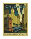 Chicago: The Magnificent Mile Kunstdruck von  Anderson Design Group