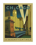 Chicago: The Magnificent Mile Print by  Anderson Design Group