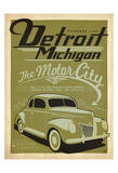 Detroit, Michigan: The Motor City Plakater af Anderson Design Group