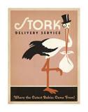 Stork Delivery Service (Pink) Plakater af Anderson Design Group