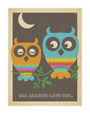 Rainbow Owls Lámina giclée por Anderson Design Group