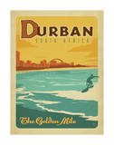 Durban, South Africa: The Golden Mile Posters by  Anderson Design Group