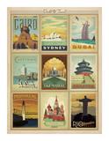 World Travel Multi Print II Plakater af Anderson Design Group