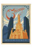 Chicago Water Tower Affiche par  Anderson Design Group
