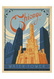 Chicago Water Tower Print by  Anderson Design Group
