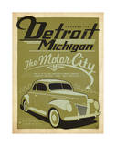 Detroit, Michigan: The Motor City Print by  Anderson Design Group