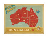 Explore Australia, The Land Down Under Print by  Anderson Design Group